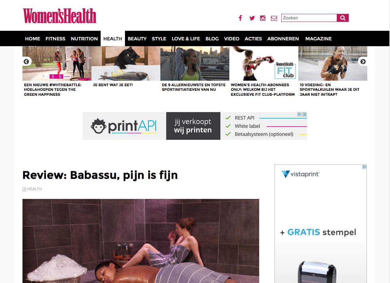 Gezien bij: Women's Health – review Babassu